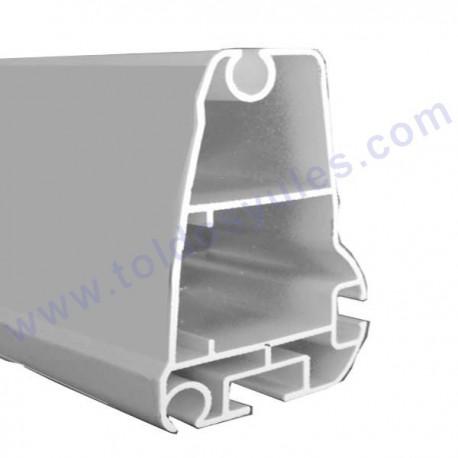 Perfil de aluminio lacado en blanco for Tubos de aluminio para toldos
